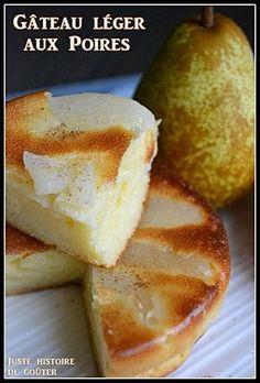 Gâteau léger aux Poires (sans beurre)