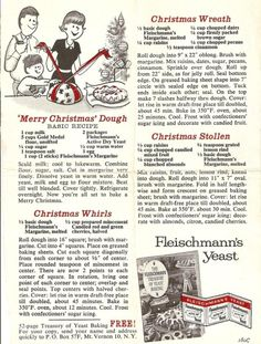 Vintage Christmas Recipes ________________________________________ Click This Photo and *SHARE * SHARE * SHARE* LIKE•.¸¸Kitchenista
