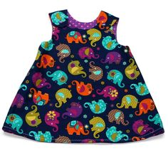 Reversible dress(Nelly bright) 18-24 months