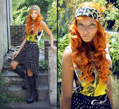 Orange hair!!!  I should try this for the Summer!