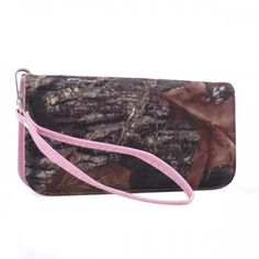 Made of Official Mossy Oak® Camo fabric, these wristlets feature: - Mutliple Slots for Cards, Currency Holder, Divider Zipper Pocket. - Removable wristlet strap for carrying alone or in your purse. -