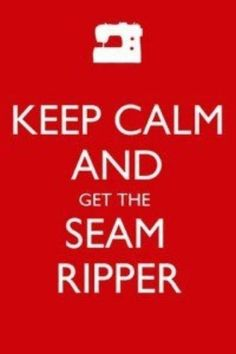 Haha I'm telling ya from experience that it is not easy to keep calm and get the fabric ripper. Lots of times I could probably have ripped it with my hands.