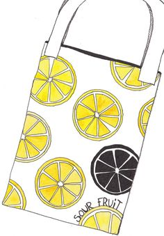 Lots of lemon slices. A print design for a canvas bag. Yellow and white colours, illustrated in watercolour and ink. Created for the book launch of Sour Fruit a debut novel by Eli Allison. Sour Fruit, Say Her Name, Grace Jones, Book Launch, Successful Women, Watercolor And Ink, The Book, Print Design, Two By Two