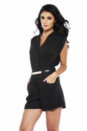 Pleated Hidden Button Up Playsuit