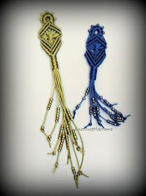 Micro macrame pendant from Knot Just Macrame.