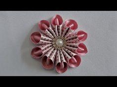 Flor de Fita Com Pérolas - Passo a Passo - YouTube                                                                                                                                                                                 Mais