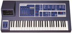 Emulator II, uno de los mejores sintetizadores de los 80s, ahora vintage, bandas como Depeche Mode lo usaban, usaba diskettes para almacenar los bancos de sonido.