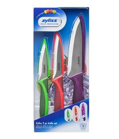 Zyliss Classic Knife - Set of 3 Multicolour Blade - Stainless Steel Knives Kitchen Utensils List, Best Kitchen Knives, Kitchen Knives And Cutlery, Must Have Kitchen Gadgets, Utility Knife, Knife Sets, Cooking Tools, Inspirational Gifts, Cool Kitchens