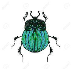 Scarab Beetle Stock Vector Illustration And Royalty Free Scarab . Egyptian Beetle, Egyptian Art, Watercolor Illustration, Graphic Illustration, Beetle Drawing, Insect Art, Guache, Mandala, Kawaii Drawings