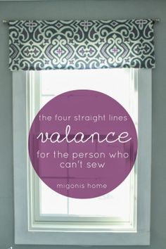 Migonis Home: The Four Straight Line Valance