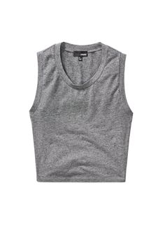 LIENE cropped tank top by Wilfred Free - available in heather grey and black. #womensfashion #nattygal #spon