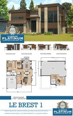 Modèle de maison neuve : Le Brest - Le Groupe Platinum - Construction de maisons et condos neufs.