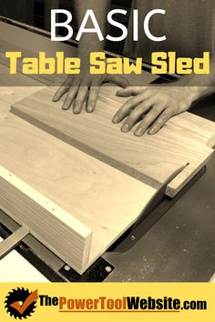 Would you like to produce consistent, accurate cross cuts with your table saw? If you haven't made a cross cutting sled yet, you should definitely give this one a try. Easy build process, super accurate, game changer for any beginner woodworker. Best Woodworking Tools, Woodworking Techniques, Easy Woodworking Projects, Wood Projects That Sell, Easy Wood Projects, Diy Your Furniture, Tool Website, Table Saw Sled, Wood Worker
