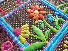 """The pattern is from Pieceocake's """"My Whimsical Quilt Garden"""" book"""