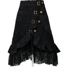 6ffe49739b6 Women Black Lace Steampunk Rock Gothic Victorian SKIRT Gypsy Club Prom  Dress Lot