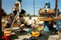 Old school McDonald's Play area,  I can't lie...so remember this