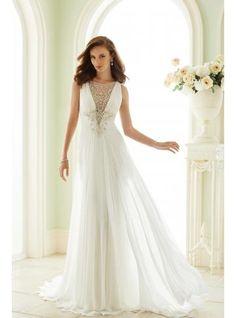 šifon jednoduché svatební svatební šaty Spring 2017 Wedding Dresses 9b9a6da0d1