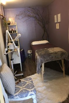 Skin care treatment room. Tangles, Sherman TX.