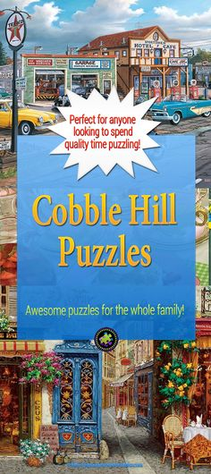 Cobble Hill Puzzles have awesome jigsaw puzzles for the whole family! If you're looking for good quality jigsaw puzzles that have a good selection of nostalgic, endearing, lively, sweet puzzles that are affordable as well, Cobble Hill Puzzles are the Best.