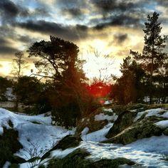 Lite sol på nyårsafton. Stockholms skärgård.