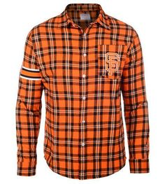 Buy San Francisco Giants Wordmark Long Sleeve MLB Flannel Men's Shirt by Klew San Francisco Giants Officially Licensed NFL Flannel Shirt. Are you Giants fan? then definitely this Shirt has always been on the top of your shopping list San Francisco Football, San Francisco Giants, Mlb Giants, Nhl Jerseys, Golf Shirts, Flannel Shirt, Sport Outfits, Button Up Shirts