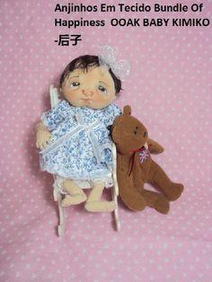 Boneca de Pano Baby Kimiko Artesanal VENDIDA