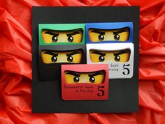 Ninjago Geburtstag Party Einladungen  Ninjago inspiriert