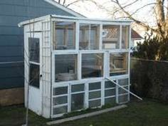 Greenhouse from recycled wood windows!