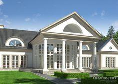 Projekt domu w stylu dworkowym LK&1205 #dworek #projekt #architektura #lkprojekt