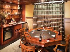 113 best poker room images on pinterest in 2018 board games board run my renovation a basement bar and billiards room designed by you the outdated space was transformed into a hip vegas game room with card table bar and watchthetrailerfo
