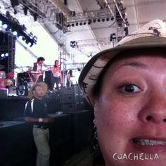 Julian Casablancas Selfie. Coachella 2014
