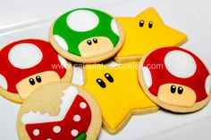 Mario Brothers Cookies by Calculated Cookies.