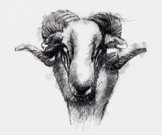 Artist Sean Briggs producing a sketch a day Ram  ##art#drawing#sketch ##ramhttp://etsy.me/1rARc0J