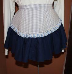 Vintage Apron Navy Blue Hostess Apron  Very by ilovevintagestuff