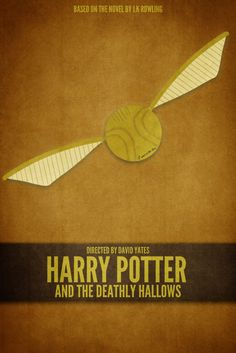 Harry Potter and the Deathly Hallows minimalist poster