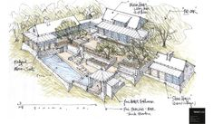 Forest Studio, Laguna Canyon Homes, Orange County, CA Architecture Images, Architecture Drawings, Historical Architecture, Residential Architecture, Landscape Architecture, Site Plan Drawing, Colorado Ranch, Urban Design Plan, Sonoma Wine Country