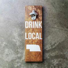 Custom State Wall-Mounted Wood Bottle Opener by Fireside Goods available at Withal now. The place to get inspired goods by local makers. Beer Bottle Opener, Bottle Openers, Wall Mounted Bottle Opener, Local Brewery, Wood Wall, Craft Beer, Fence Ideas, Yard Ideas, Diy Christmas