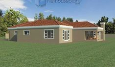 A 4 Bedrooms Tuscan styled house plans you can call home. This 4 Bedrooms Tuscan styled house design is perfect for your medium size family. 6 Bedroom House Plans, Master Bedroom Plans, Garage House Plans, Architect Design House, House Design, Double Storey House Plans, Tuscan House Plans, Built In Braai, House Plans South Africa
