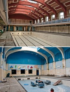 The abandoned City Baths in Durham