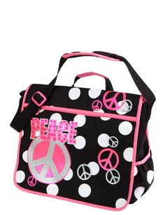 Girls Clothing | Messengers | Polka Dot Messenger Bag | Shop Justice