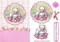 Cute kittens in the garden topper decoupage on Craftsuprint - View Now!