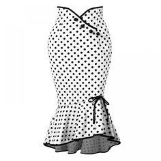 Dot Skirt Women Asymmetrical Mermaid  Price: 24.00 & FREE Shipping  #hashtag2