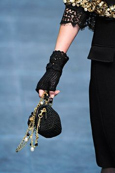 Crochet gloves from Dolce & Gabbana Fall 2012