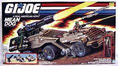 GI Joe Mean Dog Vehicle & Wildcard Figure Hasbro 1988 Good Condition New in Box Action Toys, Action Figures, 60s Cartoons, Gi Joe Vehicles, 1980s Toys, Gi Joe Cobra, Joe Cool, Man Child, Shawl