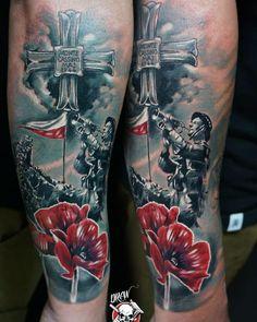 Red Poppy Tattoo, Poppies Tattoo, Military Tattoos, Red Poppies, Skin Art, Body Art Tattoos, Poland, Tatting, War
