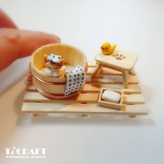2018.03 Miniature Cat Table Dollhouse   ♡ ♡ By  T2 Craft