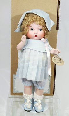 "10"" porcelain Just Me dressed doll, a reproduction of the Armand Marseille-produced doll first introduced in 1925 and imported into the 1930 by Vogue, event exclusive for the Denver UFDC Luncheon, made in an edition of 300 pieces, United States, 2002, by Vogue Doll Company."