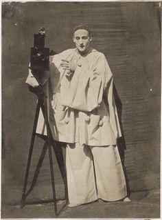 Nadar, The mime Debureau, Pierrot photograph, date unknown