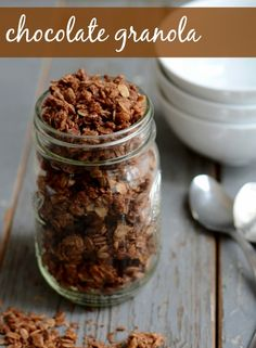Chocolate Granola from Real Food Real Deals #healthy #recipe #vegan