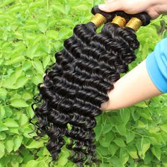 5A Brazilian Virgin Hair Deep Wave Curly Queen Hair Products 3pcs-4pcs lot Human Hair Extensions hair Weave Curly free shipping
